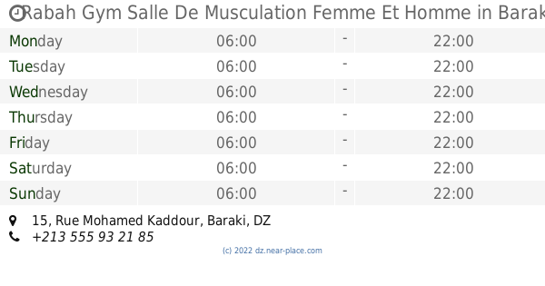 Rabah Gym Salle De Musculation Femme Et Homme Baraki Opening
